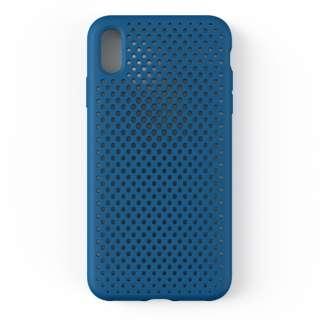iPhone XS Max 6.5インチ専用AndMesh メッシュiPhone XS Max ケース(コバルトブルー) 612-958837