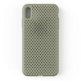 iPhone XS Max 6.5インチ専用AndMesh メッシュiPhone XS Max ケース(クレイグリーン) 612-958943
