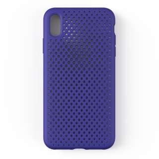 iPhone XS Max 6.5インチ専用AndMesh メッシュiPhone XS Max ケース(ネオブルー) 612-959162