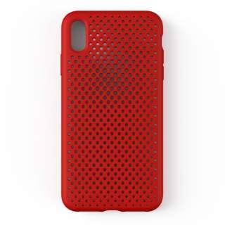 iPhone XS Max 6.5インチ専用AndMesh メッシュiPhone XS Max ケース(レッド) 612-959360