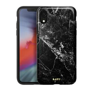iPhone XR 6.1インチ用 LAUT HUEX ELEMENTS MARBLE BLACK LAUT_IP18-M_HXE_MB