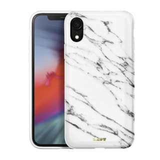 iPhone XR 6.1インチ用 LAUT HUEX ELEMENTS MARBLE WHITE LAUT_IP18-M_HXE_MW