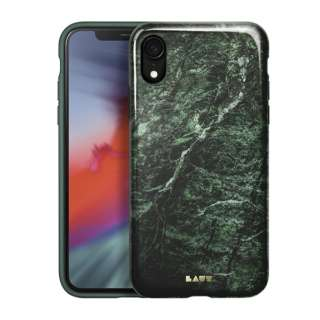 iPhone XR 6.1インチ用 LAUT HUEX ELEMENTS MARBLE EMERALD LAUT_IP18-M_HXE_MGN