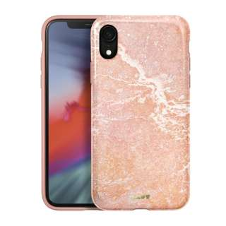 iPhone XR 6.1インチ用 LAUT HUEX ELEMENTS MARBLE PINK LAUT_IP18-M_HXE_MP