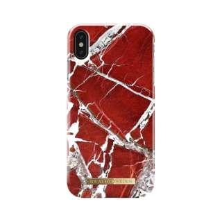 iPhone XS MAX用ケース スカーレットレッドマーブル IDFCS18-I1865-71