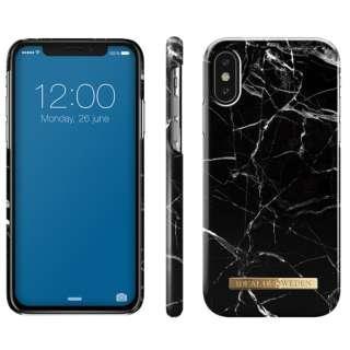 iPhone X用ケース  ブラックマーブル IDFCA16-I8-21