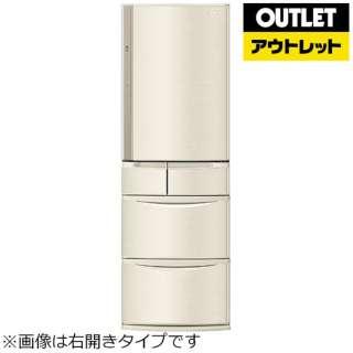 【アウトレット品】 冷蔵庫 Vタイプ [5ドア /左開きタイプ /406L] NR-E413VL-N シャンパン 【生産完了品】