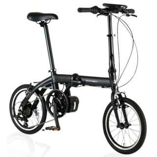 【eバイク】 16型 電動アシスト折りたたみ自転車 ULTRA LIGHT E-BIKE TRANS MOBILLY(ブラック/6段変速) E-BIKE166E 【組立商品につき返品不可】