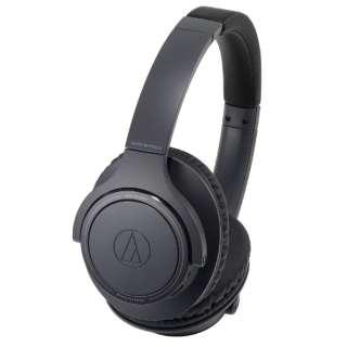 ブルートゥースヘッドホン ブラック ATH-SR30BT BK [リモコン・マイク対応 /Bluetooth]