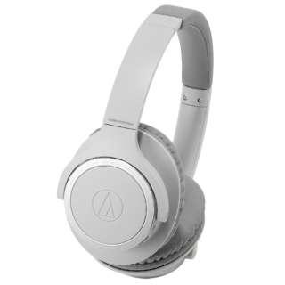 ブルートゥースヘッドホン グレー ATH-SR30BT GY [リモコン・マイク対応 /Bluetooth]