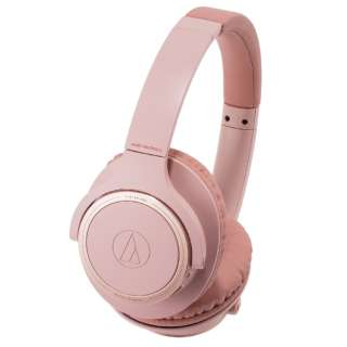 ブルートゥースヘッドホン ピンク ATH-SR30BT PK [リモコン・マイク対応 /Bluetooth]