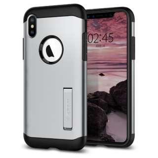 iPhone XS 5.8 Case Slim Armor Satin Silver