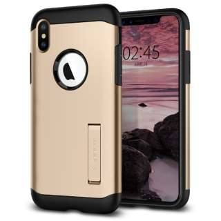iPhone XS Max 6.5 Case Slim Armor Champagne Gold