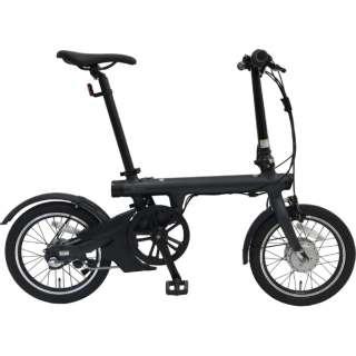 【eバイク・店舗限定販売】 16型 電動アシスト折りたたみ自転車 QiCYCLE EF-1 Pro(マットブラック/内装3段変速)