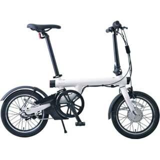 【eバイク・店舗限定販売】 16型 電動アシスト折りたたみ自転車 QiCYCLE EF-1 Pro(ホワイト/内装3段変速) 【組立商品返品不可】