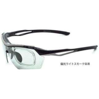 交換レンズ付き スポーツサングラス ES-S112 C2(ブラック×グレー)