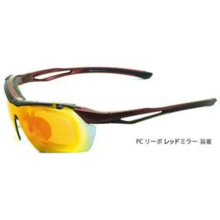 ellesse 交換レンズ付き スポーツサングラス(レッド×ブラック)ES-S112 C4