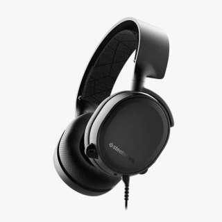 61503 有線ゲーミングヘッドセット Arctis 3 ブラック [φ3.5mmミニプラグ /両耳 /ヘッドバンドタイプ]