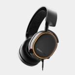 61504 有線ゲーミングヘッドセット Arctis 5 ブラック [φ3.5mmミニプラグ+USB /両耳 /ヘッドバンドタイプ]
