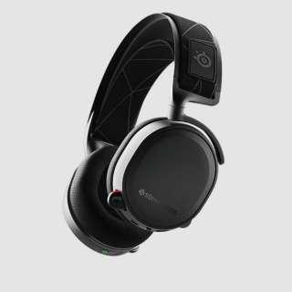 61505 ゲーミングヘッドセット 2019Edition Arctis 7 ブラック [ワイヤレス(USB)+有線 /両耳 /ヘッドバンドタイプ]