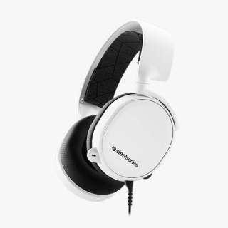 61506 有線ゲーミングヘッドセット Arctis 3 ホワイト [φ3.5mmミニプラグ /両耳 /ヘッドバンドタイプ]