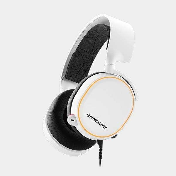 61507 有線ゲーミングヘッドセット Arctis 5 ホワイト [φ3.5mmミニプラグ+USB /両耳 /ヘッドバンドタイプ]