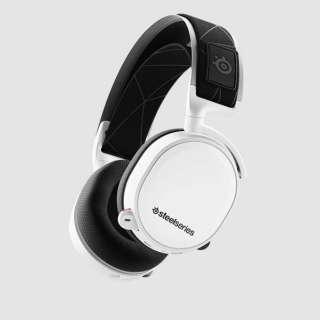 61508 ゲーミングヘッドセット 2019Edition Arctis 7 ホワイト [ワイヤレス(USB)+有線 /両耳 /ヘッドバンドタイプ]