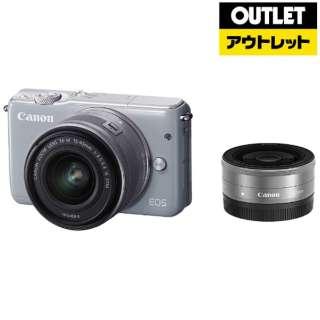 【アウトレット品】 ミラーレス一眼カメラ EOS M10 [ダブルレンズキット(ズーム+単焦点)] グレー 【生産完了品】