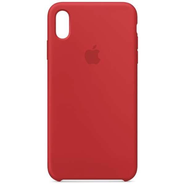 【純正】iPhone XS Max シリコーンケース (PRODUCT)RED