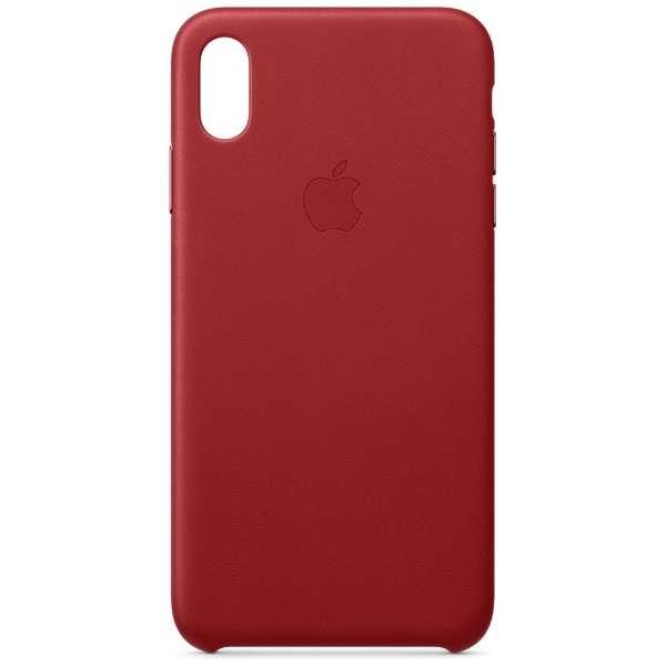 【純正】iPhone XS Max レザーケース (PRODUCT)RED
