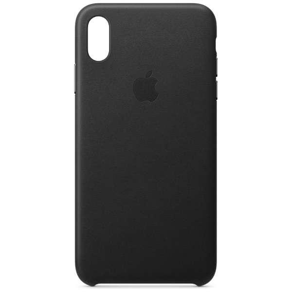【純正】iPhone XS Max レザーケース ブラック