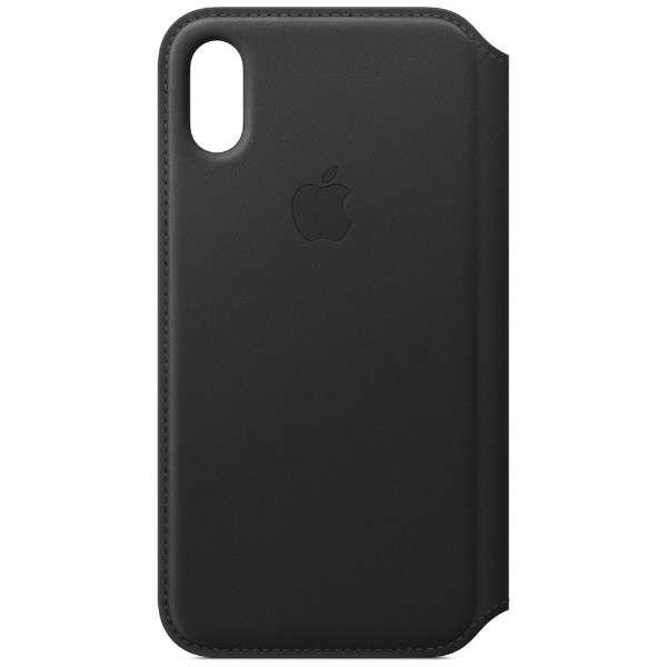 【純正】iPhone XS レザーフォリオ ブラック
