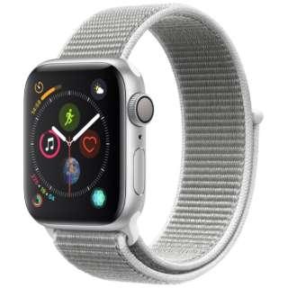 Apple Watch Series 4(GPSモデル)- 40mm シルバーアルミニウムケースとシーシェルスポーツループ MU652J/A