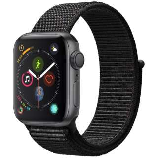 Apple Watch Series 4(GPSモデル)- 40mm スペースグレイアルミニウムケースとブラックスポーツループ MU672J/A