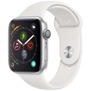 Apple Watch Series 4(GPSモデル)- 44mm シルバーアルミニウムケースとホワイトスポーツバンド MU6A2J/A