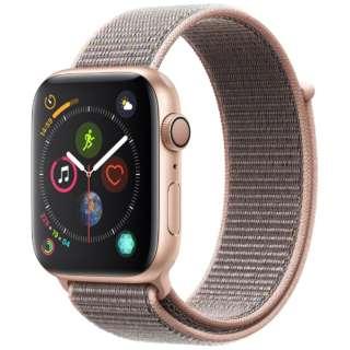 Apple Watch Series 4(GPSモデル)- 44mm ゴールドアルミニウムケースとピンクサンドスポーツループ MU6G2J/A