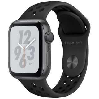 Apple Watch Nike+ Series 4(GPSモデル)- 40mm スペースグレイアルミニウムケースとアンスラサイト/ブラックNikeスポーツバンド MU6J2J/A