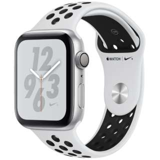 Apple Watch Nike+ Series 4(GPSモデル)- 44mm シルバーアルミニウムケースとピュアプラチナム/ブラックNikeスポーツバンド MU6K2J/A