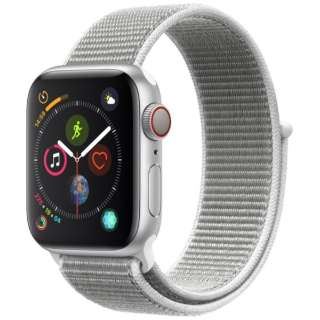 Apple Watch Series 4(GPS + Cellularモデル)- 40mm シルバーアルミニウムケースとシーシェルスポーツループ MTVC2J/A