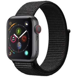 Apple Watch Series 4(GPS+Cellular型号)-40mm空间灰色铝包和黑色运动循环MTVF2J/A