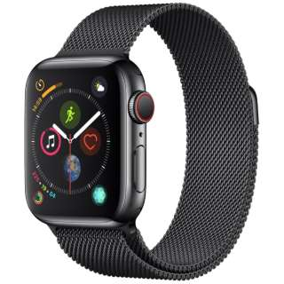 Apple Watch Series 4(GPS+Cellular型号)-40mm空间黑色不锈钢包和supesuburakkumiranezerupu MTVM2J/A[Series4/40mm/特伦斯钢铁/miranezerupu/空间黑色/GPS]