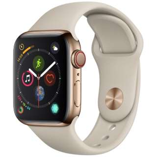 Apple Watch Series 4(GPS+Cellular型号)-40mm黄金不锈钢包和斯通运动带MTVN2J/A