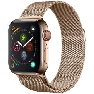 Apple Watch Series 4(GPS+Cellular型号)-40mm黄金不锈钢包和gorudomiranezerupu MTVQ2J/A