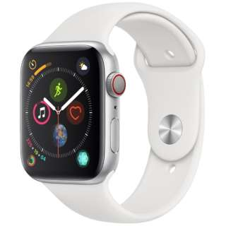 Apple Watch Series 4(GPS+Cellular型号)-44mm银铝包和白运动带MTVR2J/A[Series4/44mm/铝/运动带/银/GPS]
