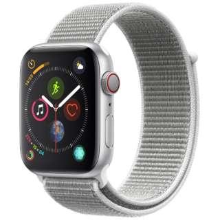 Apple Watch Series 4(GPS+Cellular型号)-44mm银铝包和海外壳运动循环MTVT2J/A