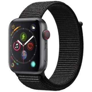 Apple Watch Series 4(GPS + Cellularモデル)- 44mm スペースグレイアルミニウムケースとブラックスポーツループ MTVV2J/A