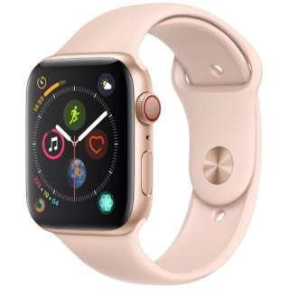 Apple Watch Series 4(GPS+Cellular型号)-44mm黄金铝包和粉红三明治运动带MTVW2J/A