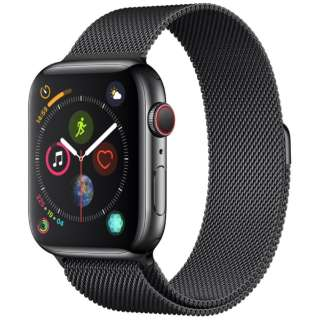 Apple Watch Series 4(GPS+Cellular型号)-44mm空间黑色不锈钢包和supesuburakkumiranezerupu MTX32J/A