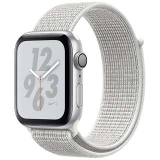 Apple Watch Nike+Series 4(GPS型号)-44mm银铝包和峰会白Nike运动循环MU7H2J/A