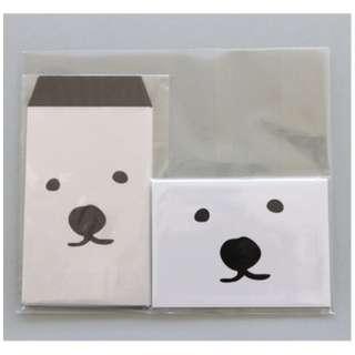 メッセージカード入りミニ封筒セット くーま PL-ST-0018